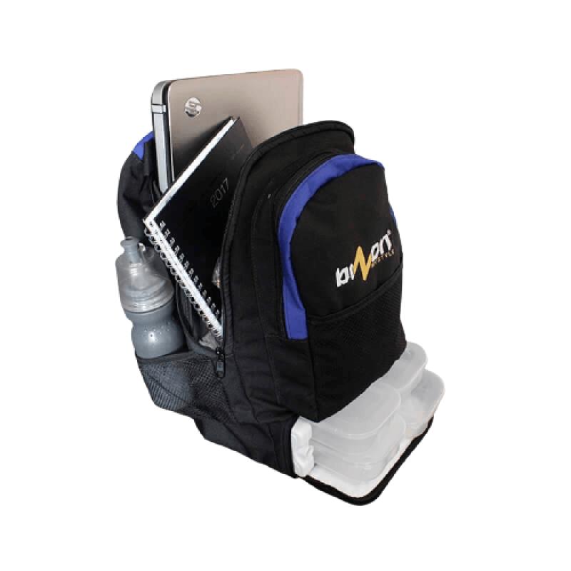 Mochila Térmica Fitness (Preto com Azul)